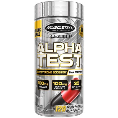 Muscletech - Alpha TEST - 120 caps Protein Outelt