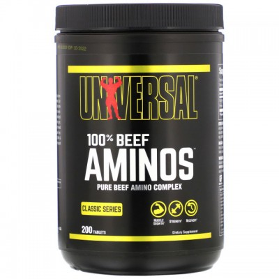 Universal - BEEF Amino - 200 caps Protein Outelt
