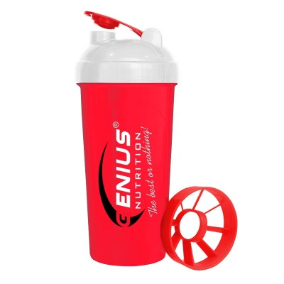 Genius - Red Shaker - 700 ml Protein Outelt